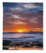 Farewell To Autumn Sun Fleece Blanket