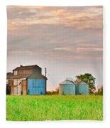 Farm Buildings Fleece Blanket