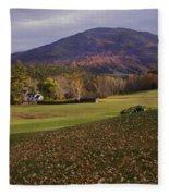 Farm By Ascutney Mountain Vermont Fleece Blanket