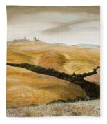 Farm On Hill - Tuscany Fleece Blanket