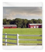 Farm Pasture Fleece Blanket