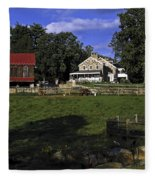 Farm Scene Fleece Blanket
