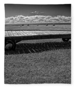Farm Wagon In A Field On Prince Edward Island Fleece Blanket