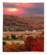 Farmers Of Paint Valley Fleece Blanket