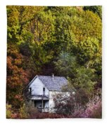 Farmhouse In Fall Fleece Blanket
