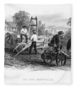 Farming, C1870 Fleece Blanket
