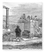 Farming: Threshing, 1851 Fleece Blanket