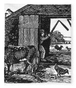 Farming: Threshing Fleece Blanket