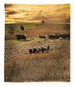 Farming To Beat The Storm Fleece Blanket