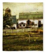 Farmland In Intercourse - Pennsylvania Fleece Blanket