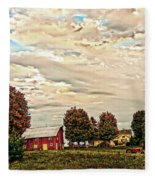 Farms From The Fifties Fleece Blanket
