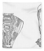 Fashion: Chemisette, 1854 Fleece Blanket