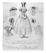 Fashion: Corset, C1850 Fleece Blanket