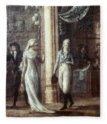 Fashionable Parisians, 1799 Fleece Blanket