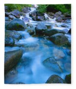 Fast-flowing River Fleece Blanket