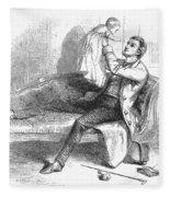 Father And Baby Fleece Blanket