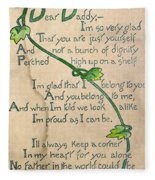 Fathers Day Card, 1912 Fleece Blanket