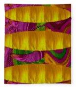 Feather Collage 1 Fleece Blanket