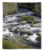 Feather River White Water Fleece Blanket