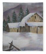 February Snowstorm Fleece Blanket