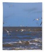Feed Us - Ferry To Galveston Tx Fleece Blanket