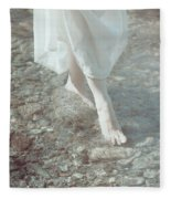 Feet In Water Fleece Blanket