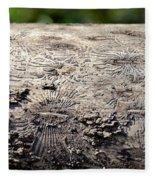 Fell By The Mighty Bark Beetle Fleece Blanket