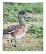 Female American Wigeon  Fleece Blanket