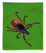 Female Blacklegged Tick Fleece Blanket