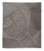 Female  Face  On  Steel  Two Fleece Blanket
