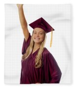 Female Graduate Fleece Blanket