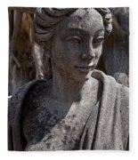 Female Statue Fleece Blanket