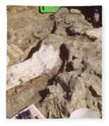 Femur Of Camarasaurus Covered Fleece Blanket