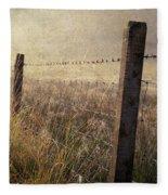 Fence And Field. Trossachs National Park. Scotland Fleece Blanket