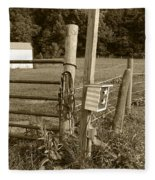 Fence Post Fleece Blanket