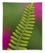 Fern Closeup Fleece Blanket