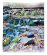 Fern Spring In Autumn Fleece Blanket