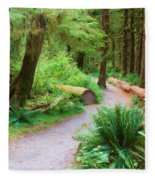 Ferns And Mosses Fleece Blanket
