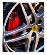 Ferrari Shoes Fleece Blanket