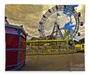 Ferris Wheel - Vienna Fleece Blanket