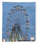 Ferris Wheel At Virginia Beach Fleece Blanket