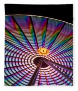 Ferris Wheel Rainbow Fleece Blanket