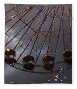 Ferris Wheel Reflection Fleece Blanket