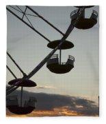 Ferris Wheel Silhouette Fleece Blanket