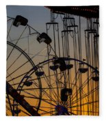 Ferris Wheels Fleece Blanket