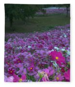 Field Of Flowers Along The Highway  Fleece Blanket