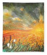 Field Of Gold Fleece Blanket