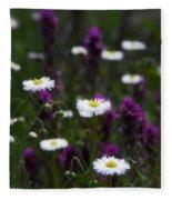 Field Of Spring Flowers Fleece Blanket