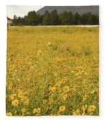 Field Of Yellow Daisy's Fleece Blanket