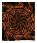Fiery Pinwheel Fleece Blanket